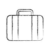 Sketch draw suitcase cartoon Royalty Free Stock Photography