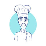 Sketch drawing of a chef Stock Photography