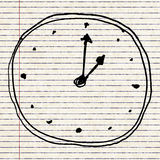 Sketch drawing of a clock Royalty Free Stock Photo