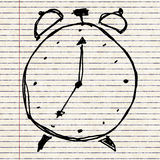 Sketch drawing of a clock Royalty Free Stock Photos