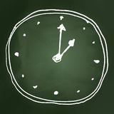 Sketch drawing of a clock Royalty Free Stock Image