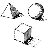 Sketch drawing of geometry vector Stock Image