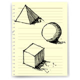 Sketch drawing of geometry vector Royalty Free Stock Photos
