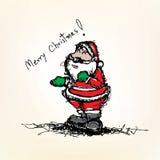 Sketch drawing of Santa claus vector Royalty Free Stock Images