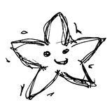 Sketch drawing of a star Stock Photo