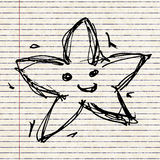 Sketch drawing of a star Royalty Free Stock Photo