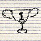 Sketch drawing of a trophy Royalty Free Stock Photography