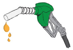 Sketch   a dripping gas pump Stock Images