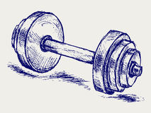 Sketch dumbbell weight Royalty Free Stock Image