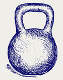 Sketch dumbbell weight Stock Images
