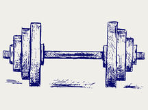 Sketch dumbbell weight stock illustration
