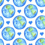 Sketch Earth and heart in vintage style Stock Image