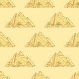 Sketch Egypt pyramids in vintage style Royalty Free Stock Photo