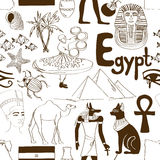 Sketch Egypt seamless pattern Royalty Free Stock Images