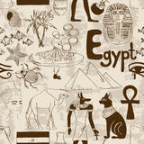 Sketch Egypt seamless pattern Royalty Free Stock Image