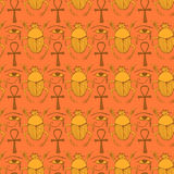 Sketch Egyptian symbols in vintage style Royalty Free Stock Image