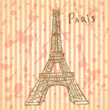 Sketch Eiffel tower, vector  background eps 10 Stock Photography