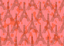 Sketch Eiffel tower, vector  seamless pattern Stock Photo