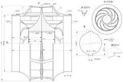 Sketch of engineering wheel Stock Photo