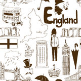 Sketch England seamless pattern Stock Image