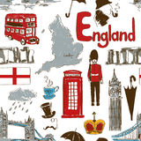 Sketch England seamless pattern Stock Images