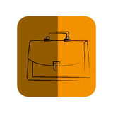 Sketch of executive suitcase in square frame Stock Photos