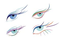 Sketch eye Stock Photography