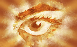 Sketch of eye Royalty Free Stock Photos