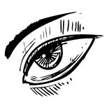Sketch eye Royalty Free Stock Image