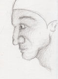 Sketch of a face Royalty Free Stock Photos