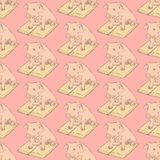 Sketch fancy pig in vintage style Royalty Free Stock Photos