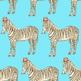 Sketch fancy zebra in vintage style Royalty Free Stock Photography