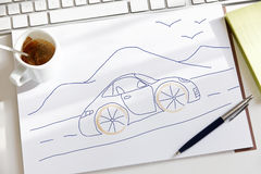 Sketch fantasy of a dream car Stock Photo