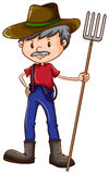 A sketch of a farmer Royalty Free Stock Photo
