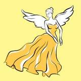 Sketch. Fashion angel wings vector illustration