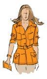SKETCH. fashion girl. Hand-drawn fashion model Royalty Free Stock Images