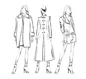 SKETCH. fashion girls Royalty Free Stock Photography