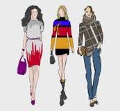 SKETCH. fashion girls Stock Photo