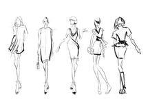SKETCH. fashion girls Stock Image
