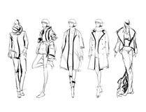SKETCH. fashion girls Royalty Free Stock Photos