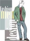 Sketch fashion & handsome business man Stock Image