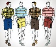 Sketch of fashion handsome man illustration. Stock Images