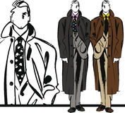 Sketch of fashion handsome man illustration. Royalty Free Stock Image