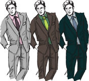 Fashion handsome men Stock Image