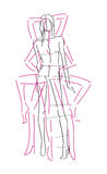 Sketch Fashion Poses Royalty Free Stock Photos