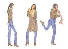 Sketch Fashion Poses Stock Photo