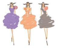 Sketch Fashion Poses Stock Image