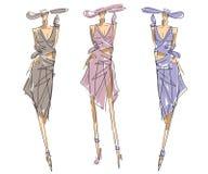 Sketch Fashion Poses Royalty Free Stock Photo