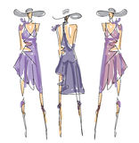Sketch Fashion Poses Stock Photography