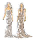 Sketch Fashion Poses Royalty Free Stock Images